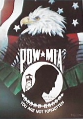 POW / MIA emblem and Eagle